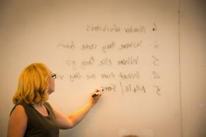 gemma writing on the whiteboard