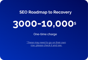 SEO roadmap to recovery